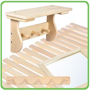 Stínítka, poličky a podlahové rošty