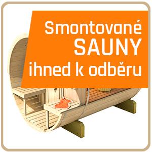 Smontované sauny ihned k odběru