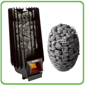 Saunová kamna a lávové kameny